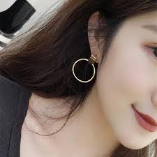 E0260 <b>Fashion Jewelry</b> Gold Silver Color Big Hoop Earrings ...