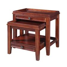 wander pine end table and mdf with paper veneer cherry nesting cherry veneer home furniture