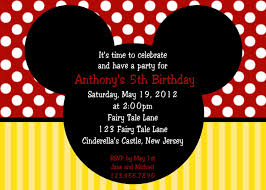 mickey mouse birthday invitations printable mickey mouse mickey mouse birthday invitation card template