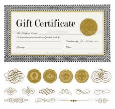 printable gift certificates borders blank certificates borders border sheets gift certificate vector
