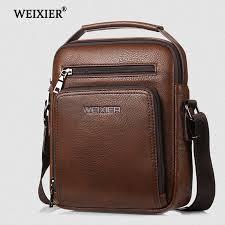 <b>2019 New</b> brand men's shoulder bag black business leather men ...