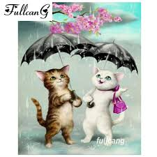 2019 <b>FULLCANG Diy Diamond Painting</b> Couple Cats And ...