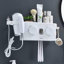 <b>multifunction</b> toothbrush <b>holder</b> automatic <b>toothpaste dispenser</b> hair ...
