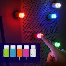 push pin led light petite colorful pin interior light push the head to turn ambient room lighting