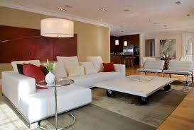 concrete coffee table family room contemporary with arc lamp area rug beach house living room tropical family room