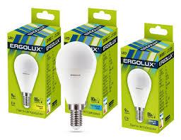 <b>Лампочка Ergolux</b> LED-G45-<b>9W</b>-<b>E14</b>-3K (13173) – цены и скидки ...