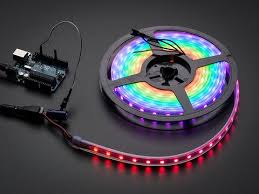 Adafruit NeoPixel Digital <b>RGB LED Strip</b> - White 60 LED [WHITE] ID ...