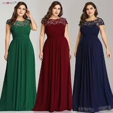 Ever Pretty Plus Size Evening Dresses <b>2019 New Arrival Elegant</b> A ...