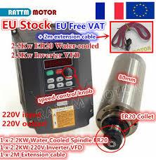 eBay #Sponsored FRA 2.2KW Water Cooled CNC Spindle Motor ...