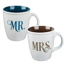 MUGS: MR AND MRS <b>Two Piece Coffee</b> Mug Set