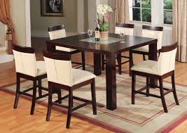 room simple dining sets:  brilliant appealing modest brown lacquered teak wood counter height dining also dining room table height