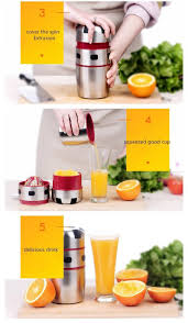 <b>1PCS Portable</b> Stainless Steel <b>Orange</b> Juicer Manual Lid Rotation ...