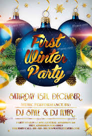 19 and premium flyers for your winter event graphicsfuel first winter party psd flyer