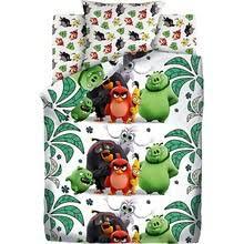 """Детское <b>постельное белье 1,5 сп</b> Angry Birds 2 """"Птичий остров ..."""