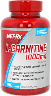MET-Rx <b>L</b>-<b>Carnitine</b> Energy & Dietary Supplement, <b>1000 mg</b>, <b>180</b> ...