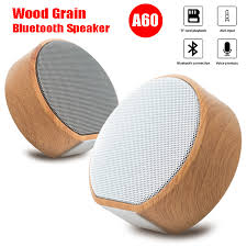 <b>Portable Mini Wood Grain</b> Wireless Bluetooth Speaker Subwoofer ...