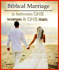 Image result for one man one woman