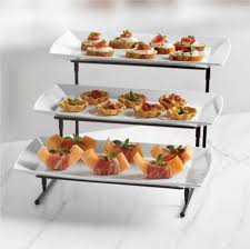 new b smith step food server tray serving platter party dishes prev