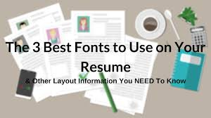 the best fonts to use on your resume layout guide images best fonts to use on your resume