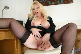Mature Busty Totally Shaved Shaved Blonde MILF Lucy Gresty with.