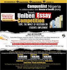 uniben gist win as a writer see details wednesday 19 2016