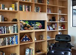 home office book shelf aquarium aquarium office