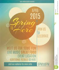 spring event flyer template template spring event flyer template
