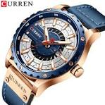 <b>CURREN Men's</b> Watches Leather Fashion Casual Business ...