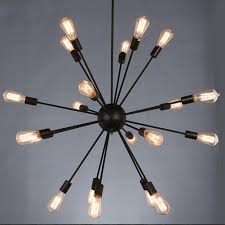 Sputnik <b>Ceiling</b> Light <b>Loft Vintage</b> Satellite Iron Art chandelier ...