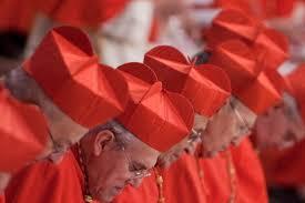 Hasil gambar untuk gambar para uskup berjubah merah ungu
