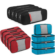 Gonex 8pcs/set <b>Compression Packing Cubes</b> Mesh Hanging <b>Travel</b> ...