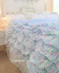 shabby chic beach cottage bedding linens rachel ashwell duvet quilt blue shabby chic bedding