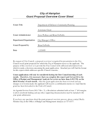 sample cover letter for grant proposal cover letter sample  proposal letter grant grant project cover