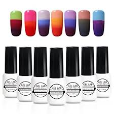 C003: <b>Gel Nail</b> Polish <b>Set</b> Gel Lab <b>7Pcs Color</b> Changing Nail Polish ...