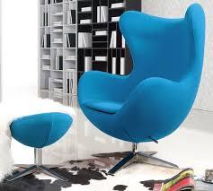 turquoise blue wool arne jacobsen egg chair replica with ottoman arne jacobsen egg chair replica