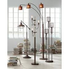 franklin park ii industrial boom floor lamp rust c351 boat lighting trough