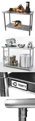 ampamp prep table: trinity ecostoragetm  nsf stainless steel prep table trinitys high quality all stainless steel table