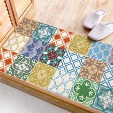 <b>Colorful</b> imitation ceramic tile <b>sticker Kitchen</b> Study Room <b>waterproof</b> ...