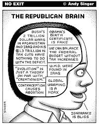 Science did a scan of a typical Republican Tea Bag mind to see what they could find.