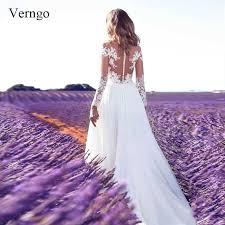 <b>Verngo</b> Mermaid Wedding Dresses Boho Wedding Dress Appliques ...