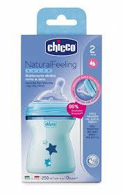<b>Бутылочка Chicco Natural Feeling</b>,2мес.+, 250мл., голубая ...