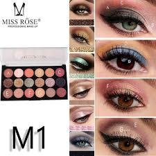 Miss Rose <b>Professional</b> Make-Up <b>12 Color</b> Eyeshadows & 6 <b>Color</b> ...