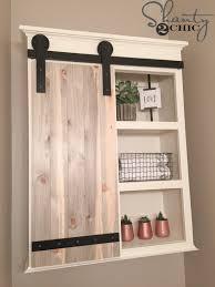 making bathroom cabinets: diy bathroom storage cabinet with barn door