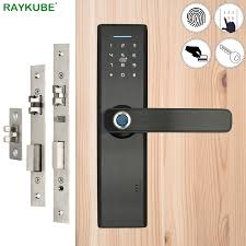 RAYKUBE <b>Fingerprint Lock Smart</b> Card Digital Code Electronic ...