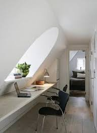 awesome 37 stylish attic home office design ideas minimalist attic home office design with long table and black chairs beautiful home office design ideas attic