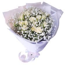 <b>Букет Белое кружево</b> | Гипсофила, Роза кустовая белая (40 см ...