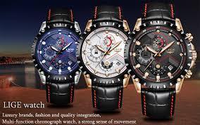 <b>LIGE Watch Men</b> Fashion Quartz Army Military Clock <b>Mens Watches</b> ...