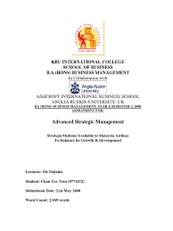 advanced strategic management yr assignment strategic advanced strategic management yr 3 assignment strategic options for airlines to enhance its growth s