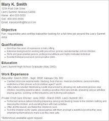 best sample nanny resume objective   experience   easy resume    gallery of  best sample nanny resume objective   experience