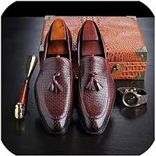 Plus Size 38-48 Men Dress Tassel Loafers Vintage ... - Amazon.com
